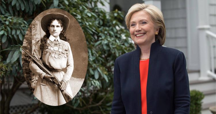 Last Time Around Hillary Clinton Was 'Annie Oakley' On Guns