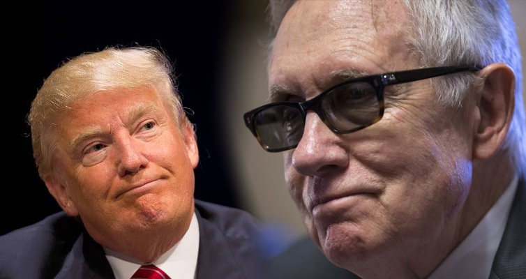 Harry Reid Shows Donald Trump Who's The Boss
