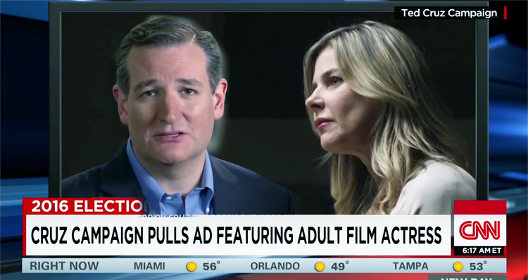Ted Cruz Campaign Casts Adult Film Star in Ad – Video