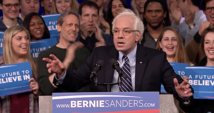 Watch Jimmy Fallon Debut His Bernie Sanders Impression