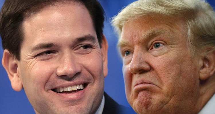 Rubio Mocks Trump, Says He Should Sue Whoever Did That To His Face – Video