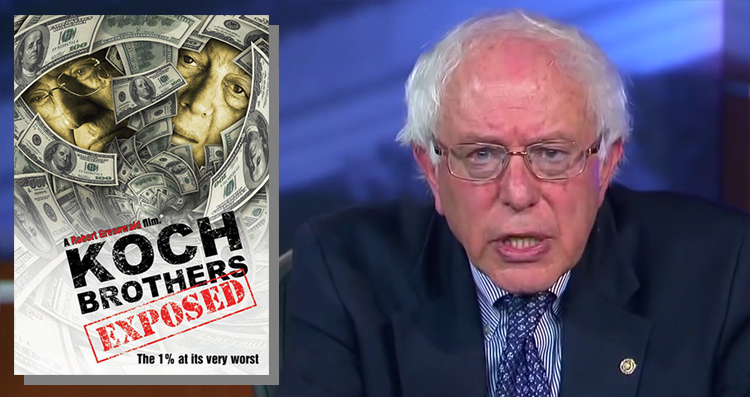 Watch Bernie Sanders Expose Massive Koch Brothers Corruption