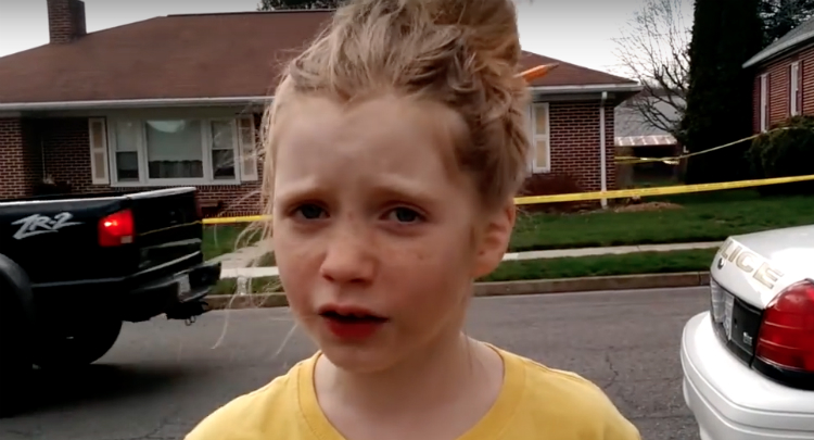 9 Year Old Girl Scoops Major Media On Murder Story (Videos)