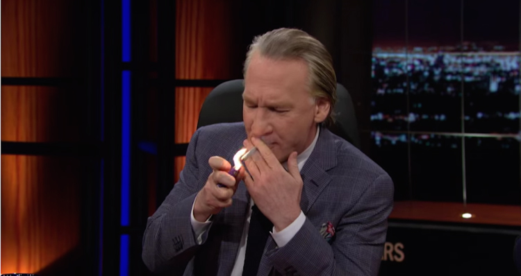 One Toke Over The Line, Sweet Jesus! Bill Maher Lights Up On-Air