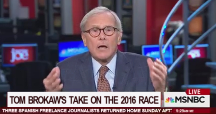Legendary News Anchor Tom Brokaw Blasts Trump Campaign – Video