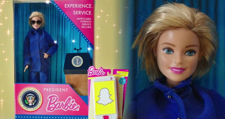SNL Mocks Hillary Clinton With 'President Barbie' Commercial – Video