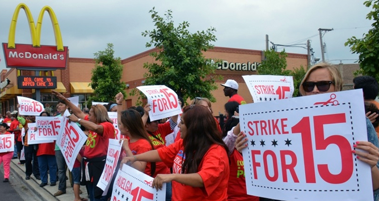 Demanding 'What We Need To Survive,' Workers Descend On McDonald's Shareholders Meeting