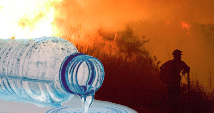 While California wildfires blaze out of control due to drought and summer heat, Nestle and other corporations plunder the state's water for profit.