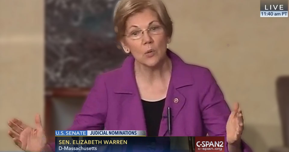 Watch Elizabeth Warren Blast GOP's Obstruction Tactics: 'Our Government Has Work To Do' (VIDEO)