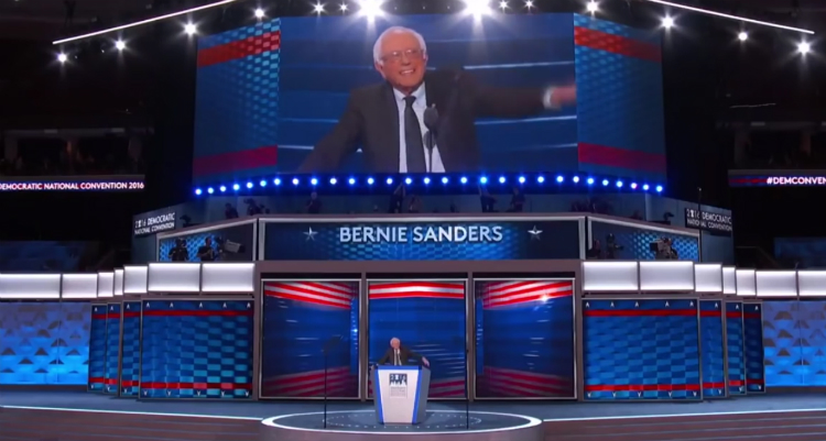 Bernie Sanders' Impassioned Convention Speech (Video)