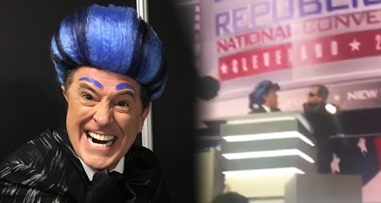 Watch Stephen Colbert Hijack The Mic At The GOP Convention. Not Kidding.