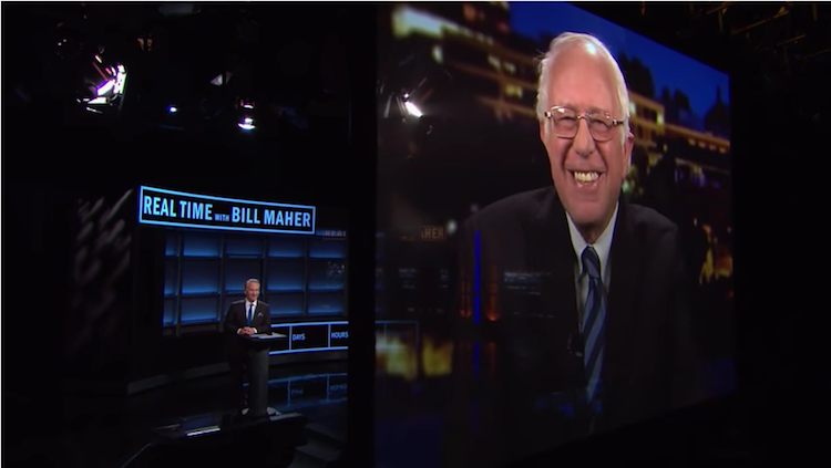 Bill Maher Asks Bernie Sanders About The Future. He Smiles, And Then Gets Serious.