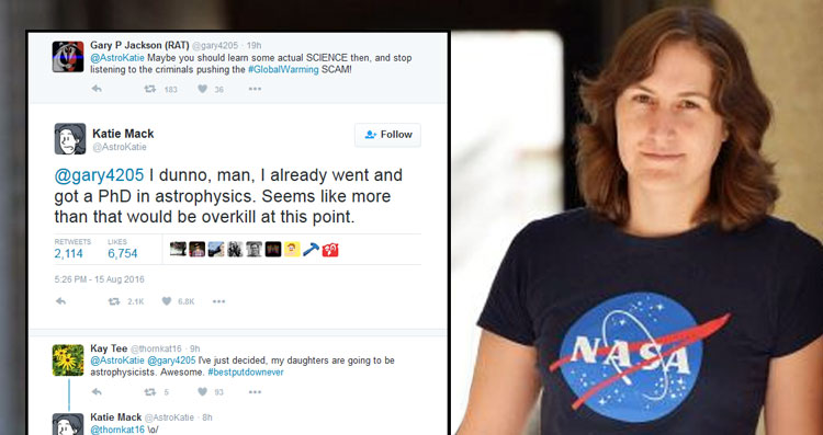 Twitter Burn Of The Year: Astrophysicist Responds To Climate Change Denier