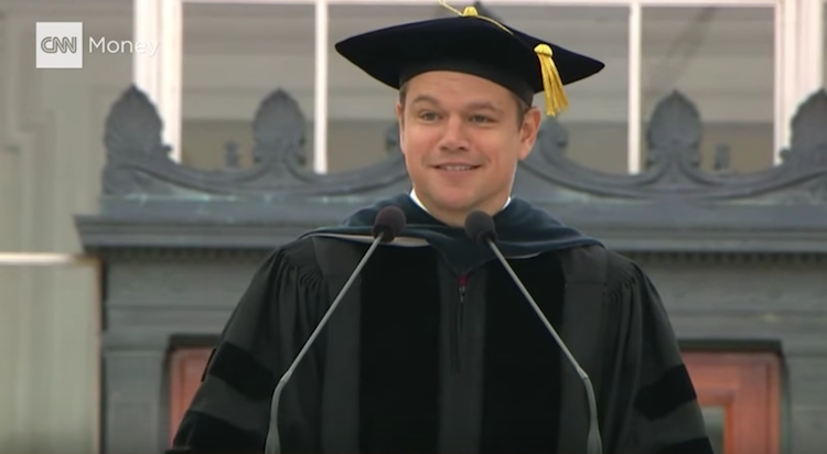 Matt Damon Returned To MIT To Give A Commencement Speech, And It's Wicked Good