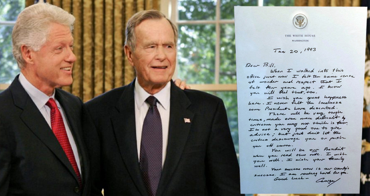 In An Election Filled With Vitriol, Pres. George H.W. Bush's 1993 Letter To Bill Clinton Is A Lesson In Dignity And Respect