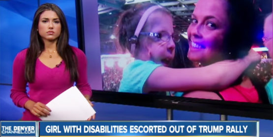7-Year-Old Girl With Disabilities Escorted From Trump Rally – Video