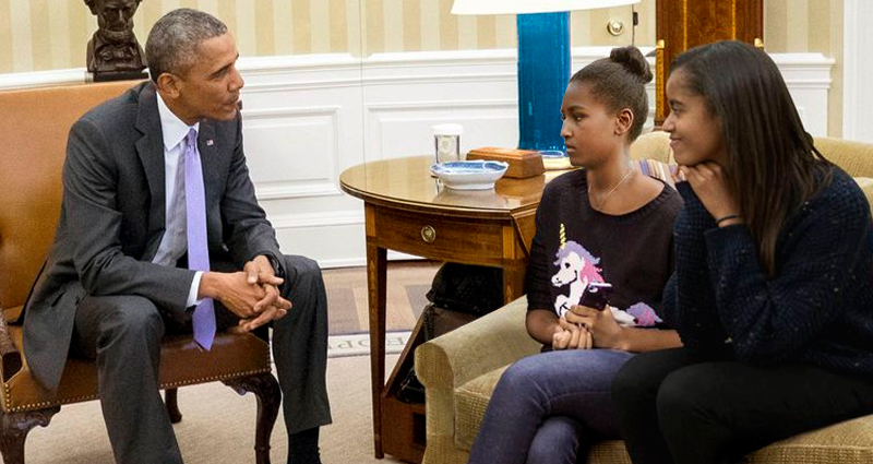 What President Obama Told His Daughters About A Trump Presidency