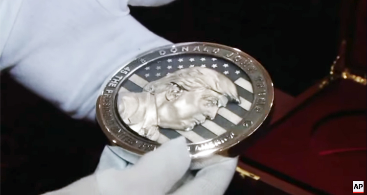 Russia Mints 'In Trump We Trust' Commemorative Coin