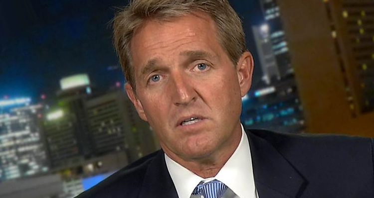 Sen. Jeff Flake Caught On Live Mic Calling GOP 'Toast' Under Trump
