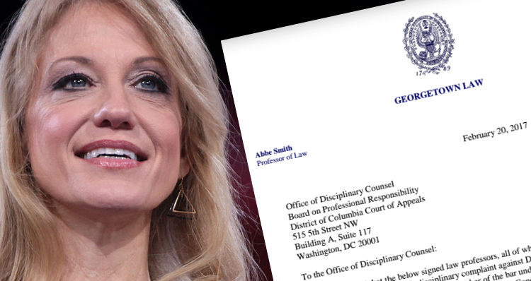 Misconduct Complaint Filed Against Kellyanne Conway By Law Professors