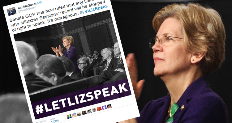 Enraged, Democrats Come Out Swinging After Elizabeth Warren Silenced By Senate Republicans