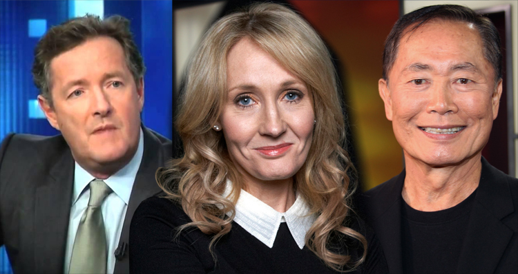 Fiery Twitter War Breaks Out Between JK Rowling, George Takei And Piers Morgan