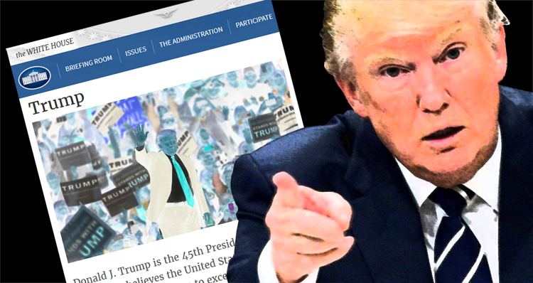 Failed Businessman Trump Turns Official White House Website Into A Fake News Portal