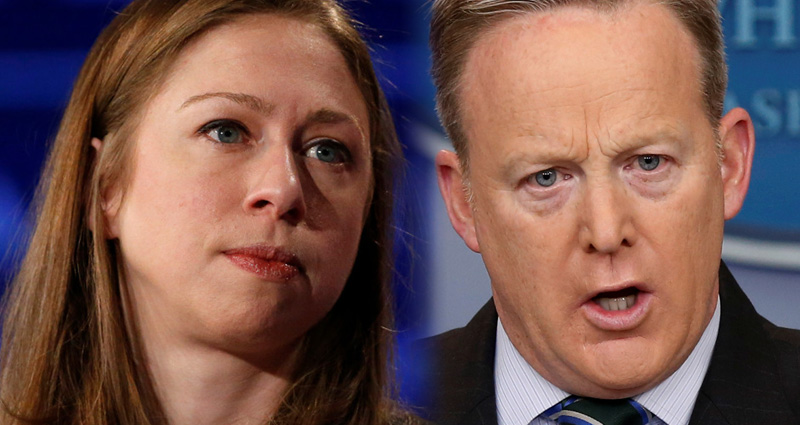 Chelsea Clinton Mocks Sean Spicer As Social Media Explodes Over Hitler Remark