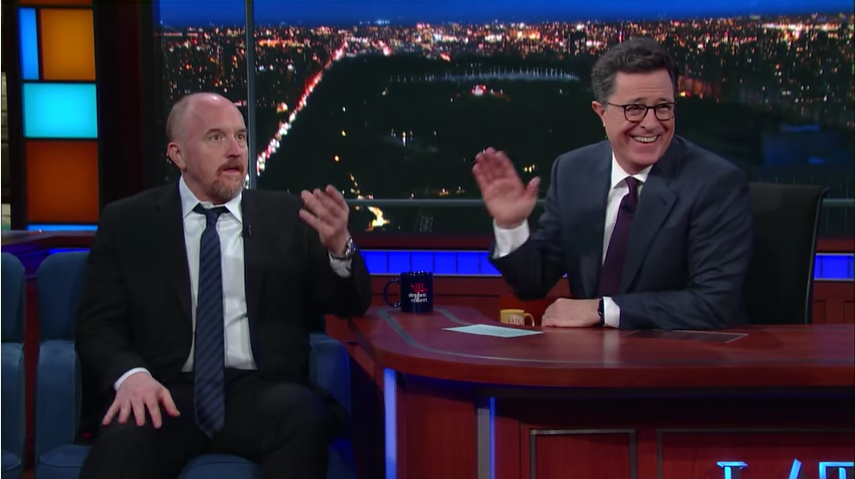 "Louis C.K. Tells Stephen Colbert: ""Trump's a Lying Sack of S***"""