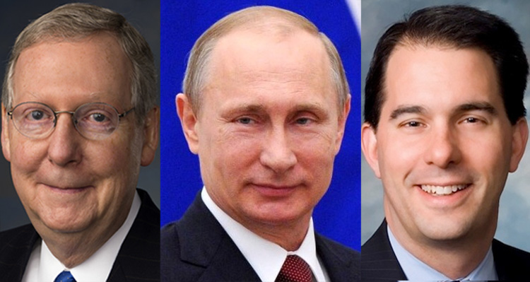Mitch McConnell, Scott Walker Up To Their Eyeballs In Pro-Putin SuperPAC Money
