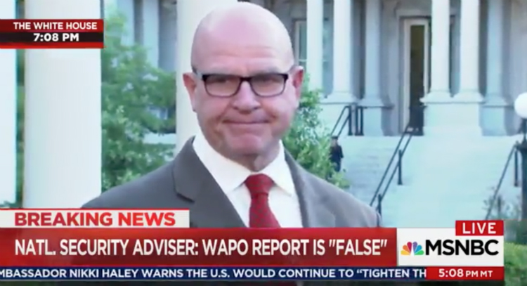 H.R. McMaster Capitulates To Trump And Says There's No There There – Video