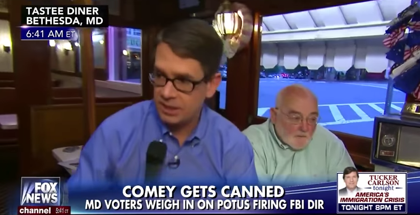 Fox Reporter Bolts After Voter Blames Comey Firing On Trump/Russia Scandal – Video