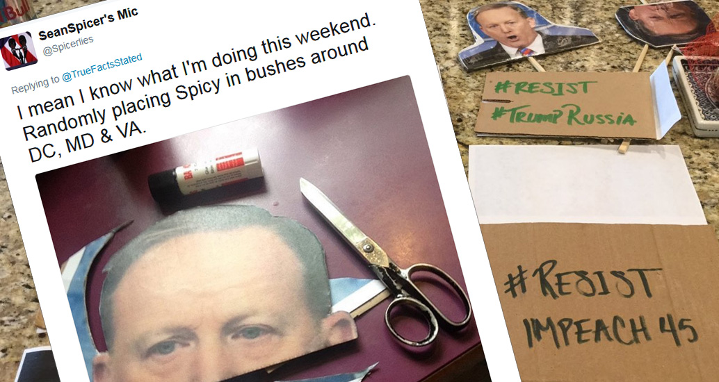 These Sean Spicer Cutouts Are Cracking Me Up