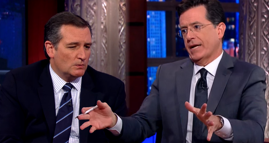 The Time Stephen Colbert Called Out Ted Cruz Hypocrisy – To His Face (Video)