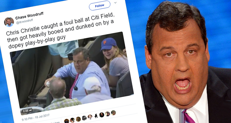 Watch Chris Christie Getting Booed By 40,000 Baseball Fans At New York Mets Game – Video