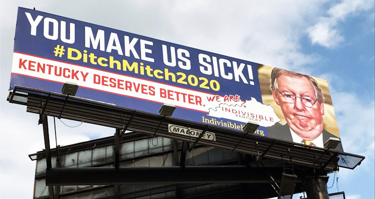 'DitchMitch, You Make Us Sick' Billboards Appear In McConnell's Hometown