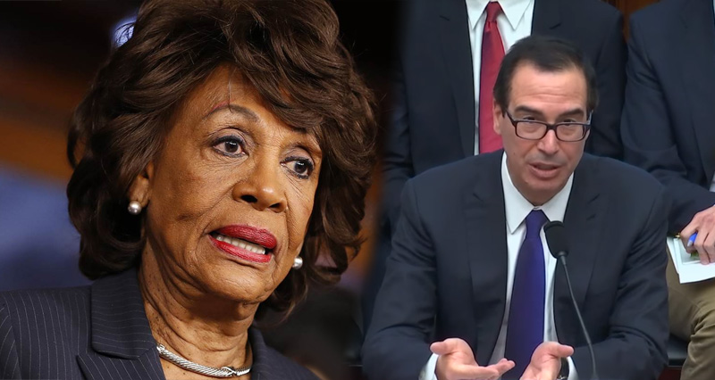 Trump's Treasury Sec. Learns The Hard Way Not To F*ck With Maxine Waters – Video