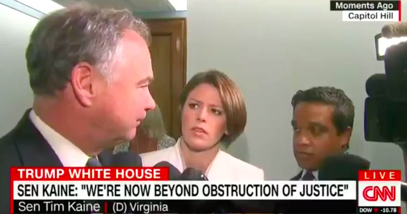 Kaine: 'Now Beyond Obstruction, This Is Moving Into Perjury & Even Potentially Treason'