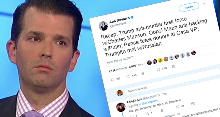 Ana Navarro Continues To Pummel Donald Trump Jr. After He Came For Her On Twitter