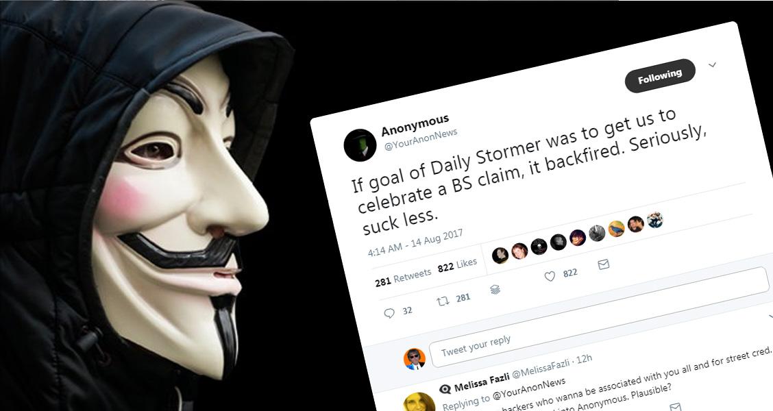Alt-Right Website Slut-Shames Charlottesville Victim, Falsely Accuses Anonymous After Web-Hosting Revoked