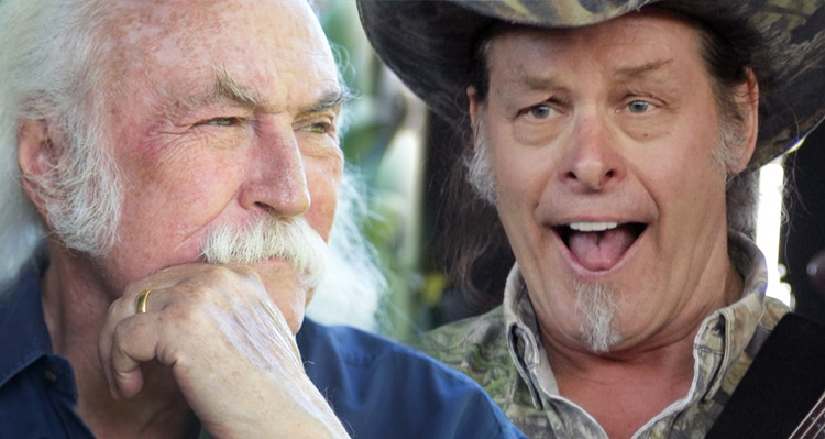 David Crosby Rips Ted Nugent And His Lame Rock And Roll Hall Of Fame Excuse