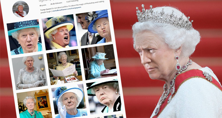 These Pics Of Trump As Queen Elizabeth Are Both Hilarious And Terrifying