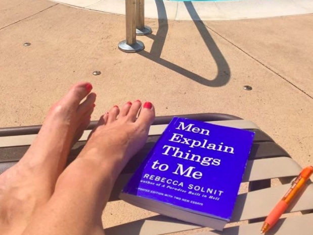 Woman Reading 'Men Explain Things To Me' Gets Unsolicited Advice From Mansplainer