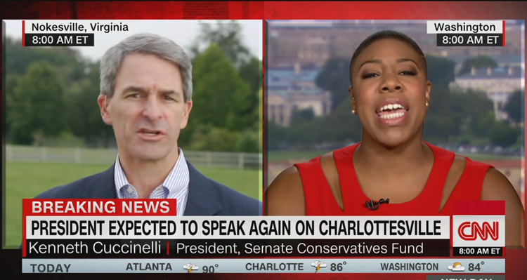 Ken Cuccinelli To CNN's Symone Sanders On Live TV: 'Shut Up And Let Me Finish' – Video