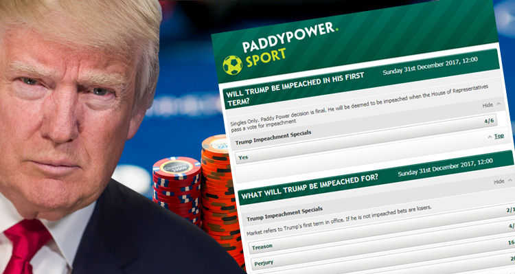 Place Your Bets: Bookies Say Trump Will Not Finish His Term