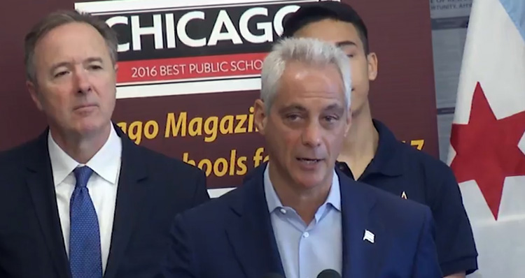 Watch Rahm Emanuel Declare Chicago A 'Trump Free Zone'