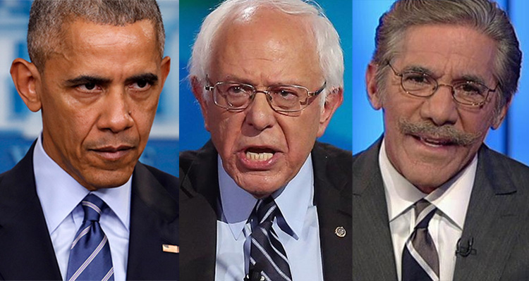Bernie Sanders, Geraldo Rivera, and Barack Obama Tear Into Trump