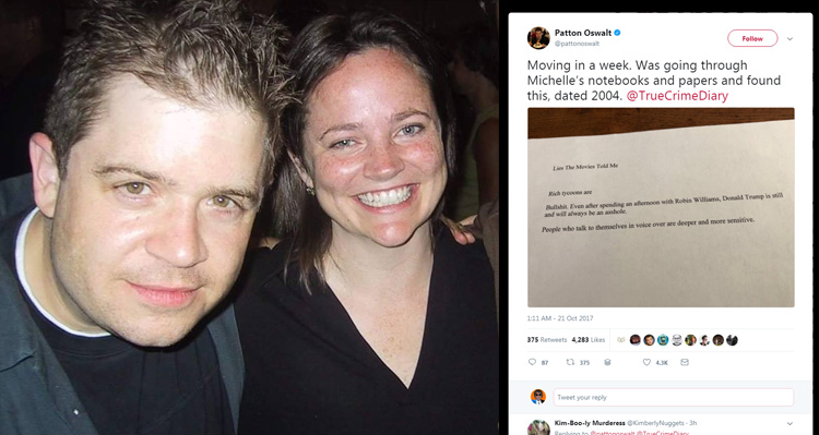 Patton Oswalt Posts Note His Late Wife Wrote About Trump In 2004 – And Wow, Did She Get It Right