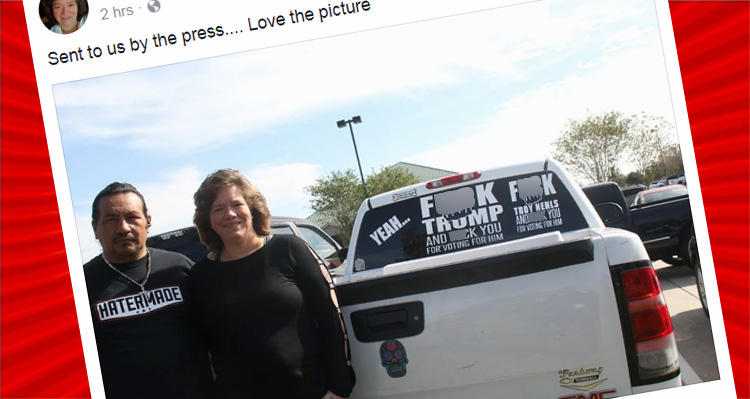 Woman's Hilarious Revenge Against Sheriff Who Arrested Her For Her 'F***' Trump Truck Decal