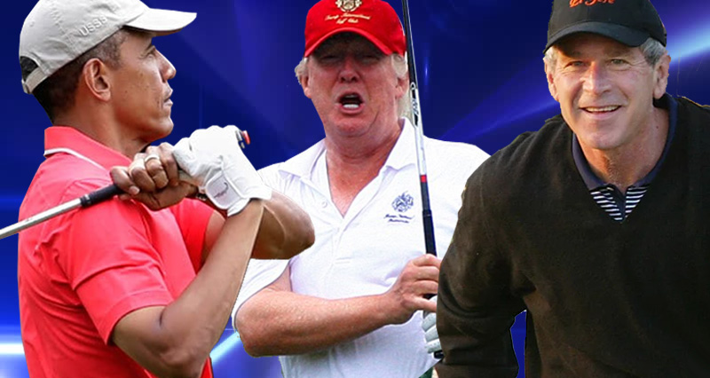 Hey Conservatives, Let's Compare Trump's Time On The Golf Course To Obama's And Bush
